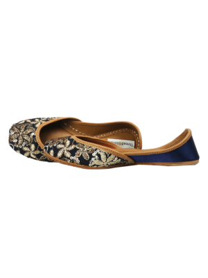 Indigo Gold Jutti for Women
