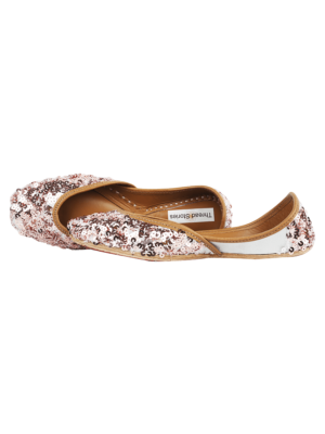 Rose Gold Sequin Juttis