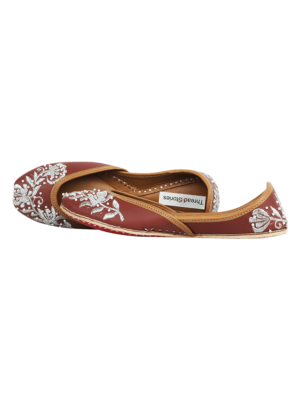 Tan leather jutti for girls