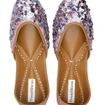 Pink Blue Sequin Jutti for Women