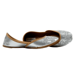 Silver Foil Handcrafted Juttis for Ladies
