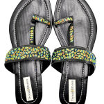 Designer Black Kolhapuri Chappal for Women