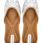 Mawiyah - Silver Punjabi Juttis for Women